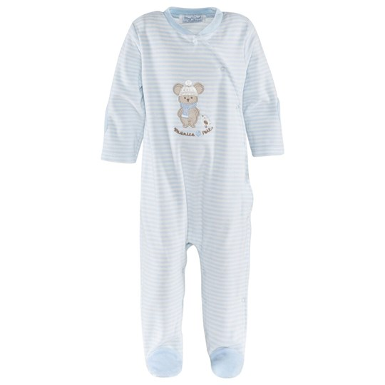 Mayoral Stripe Velour Mouse Babygrow 95 - Cielo
