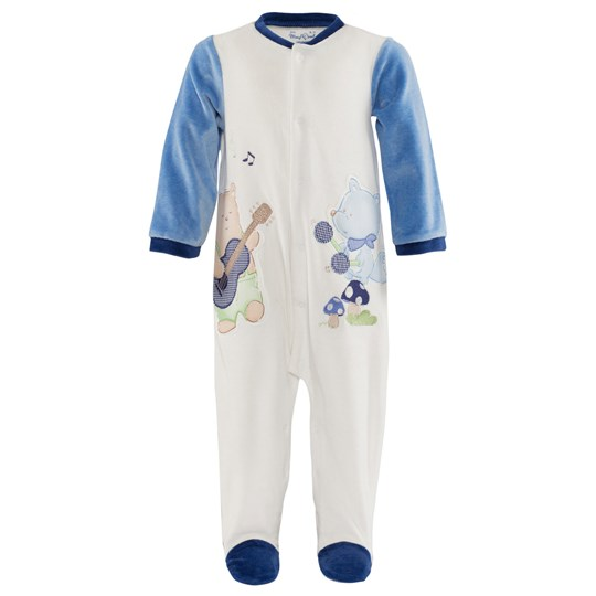 Mayoral Pale Blue Velour Animal Music Applique Babygrow Gift Set 81