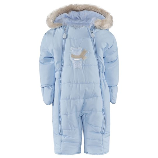 Mayoral Pale Blue Puffa Snowsuit with Teddy Fleece Lining 38 - Cielo