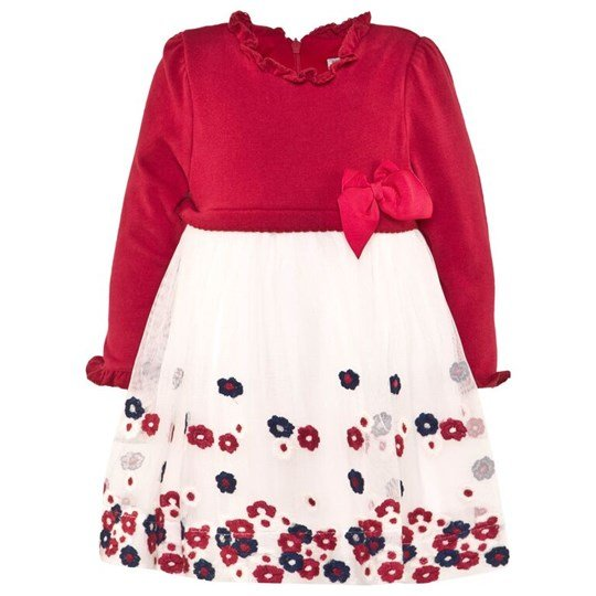 Mayoral Red Knit Dress with Tulle Flower Skirt 23