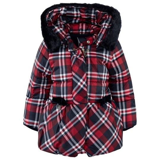 Mayoral Red and Navy Plaid Hooded Jacket 87 - Marino