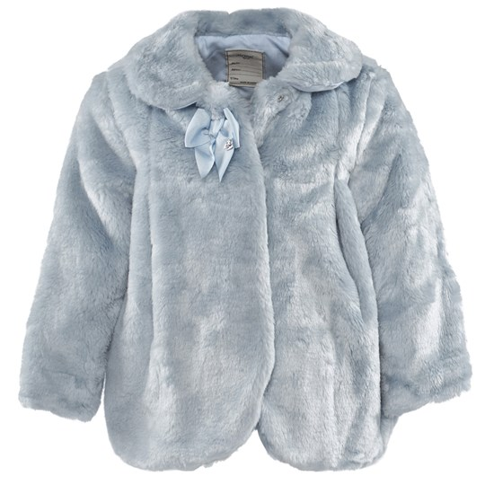 Mayoral Pale Blue Faux Fur Coat 28