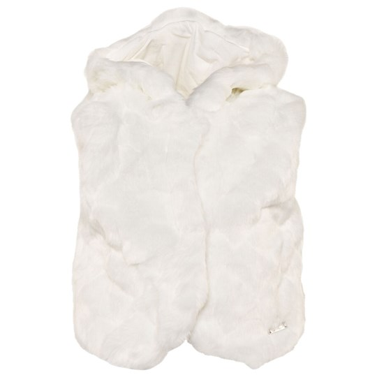 Mayoral Cream Faux Fur Vest with Ears 55