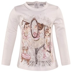 Mayoral Ballerina Print and Applique Tee