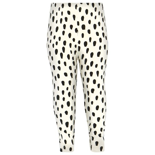 Noe & Zoe Berlin Off White Leggings With Black Drops BLACK DROPS