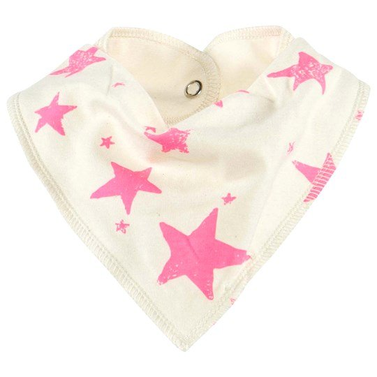 Noe & Zoe Berlin Drooling Scarf With Pink Stars NEON PINK STARS