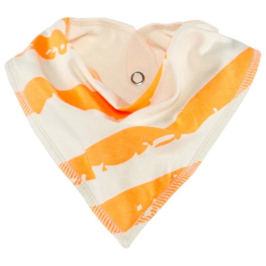 Noe & Zoe Berlin Drooling Scarf With Orange Diagonal Print NEON ORANGE DIAGONAL