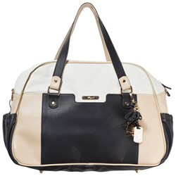 Mayoral Black, Cream and Taupe Faux Leather Changing Bag