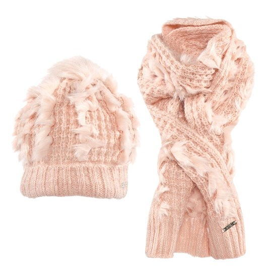 Mayoral Peach Knit Hat and Scarf Set 64