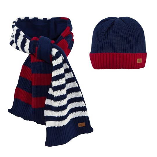Mayoral Reversible Striped Scarf and Beanie Hat 95