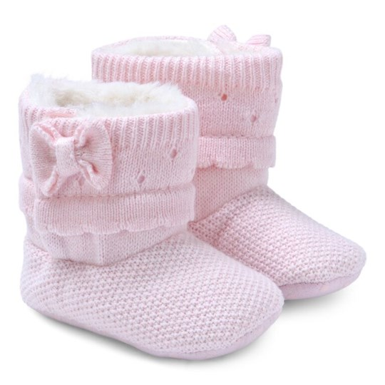 Mayoral Pink Knitted Baby Boots 37 - Rosa baby