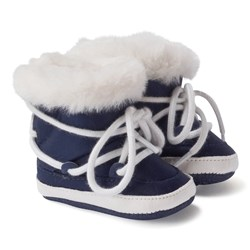 Mayoral Navy Faux Fur Snow Boots