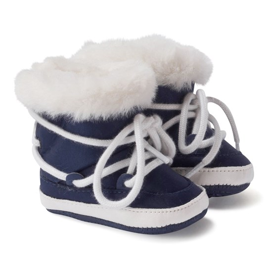 Mayoral Navy Faux Fur Snow Boots 10