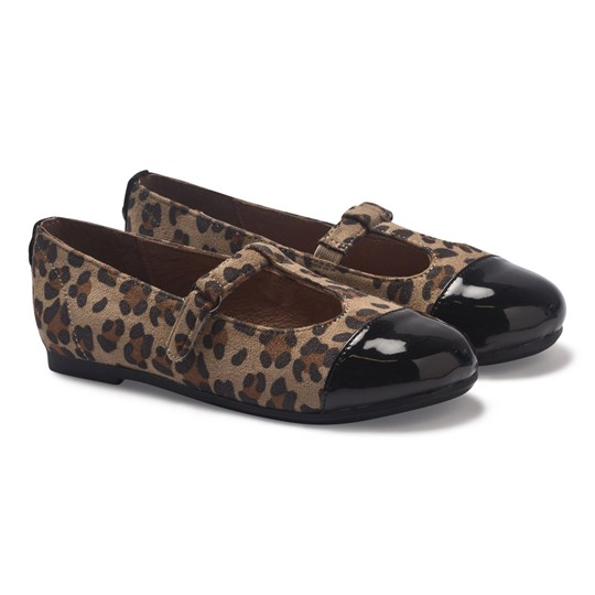 Mayoral Leopard and Patent Leather T Bar Shoes 2 - Leopardo