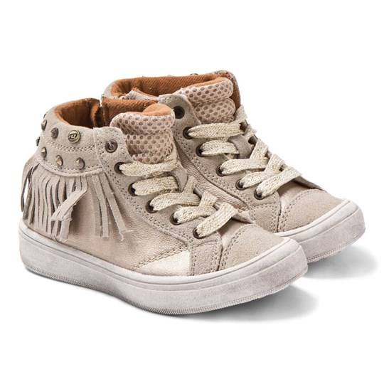 Mayoral Metallic Gold Hi Top Trainers 30 - Platino