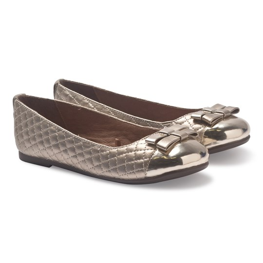 Mayoral Gold Quilted Ballet Pumps 27