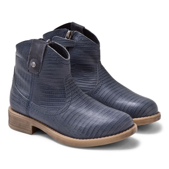 Mayoral Denim Blue Croc Effect Cowboy Boots 72 - Tejano
