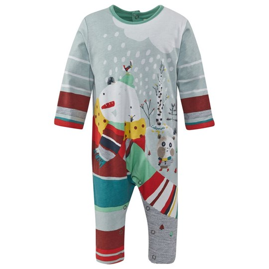 Catimini Winter Scene Padded Footless Babygrow 11