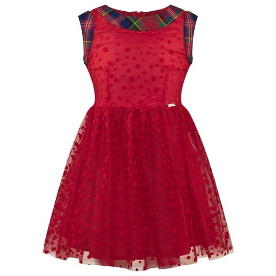 Junior Gaultier Red Tulle Spot Party Dress 3