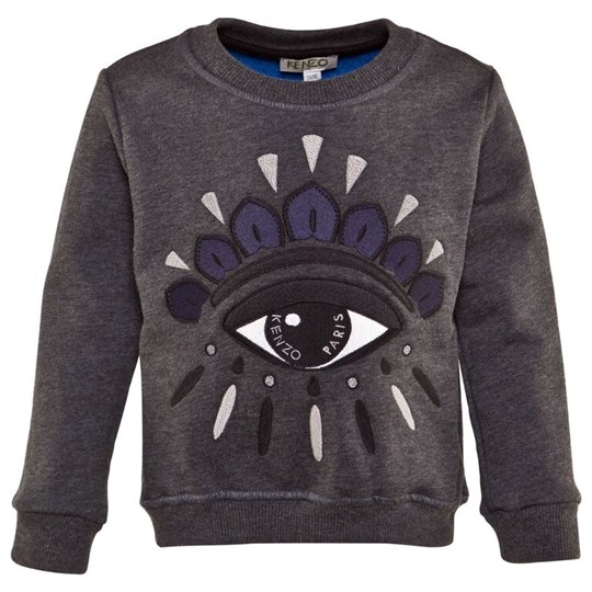Kenzo Grey Embroidered Eye Sweatshirt 28