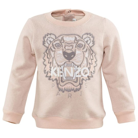Kenzo Pale Pink Glitter Embroidered Tiger Sweatshirt 31