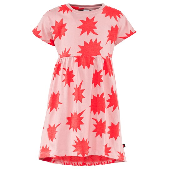 Molo Cindy Dress SS Shout Bobbles Coral Shout Bobbles Coral