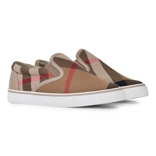 Burberry House Check Cotton Slip-On Trainers Light Honey Light Honey