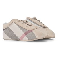 Burberry Check Slip-On Booties Stone Stone