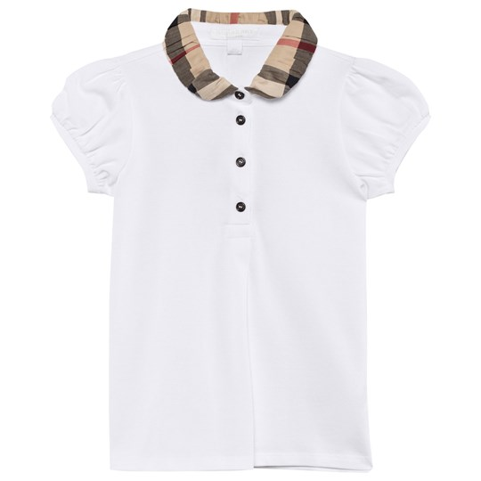 Burberry Polo Shirt Check Collar White White