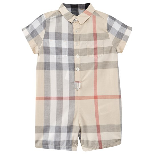 635adc89065 Burberry - Check Cotton Playsuit - Babyshop.com