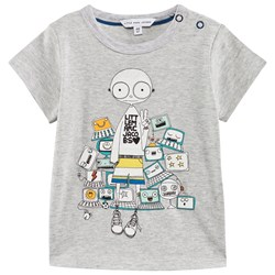 The Marc Jacobs Short Sleeves Tee-Shirt Gris Clair Chine