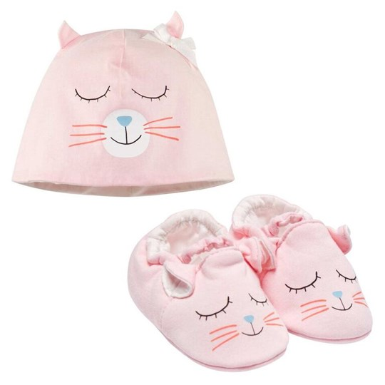 Little Marc Jacobs Pull On Hat+Slippers Pink Washed Pink Pink  Washed Pink