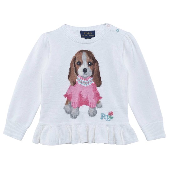 Ralph Lauren Свитшот Lsl Dog Sweater Paper White PAPER WHITE