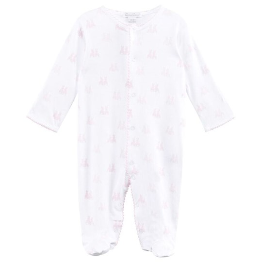 Kissy Kissy Cottontail Duo Print Footie Pink Pink