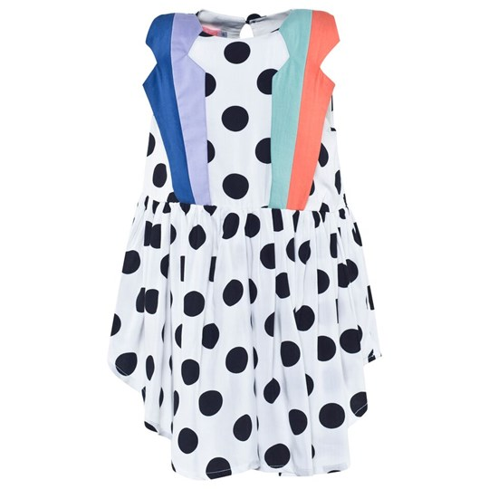 Wauw Capow Ladybird Dress White White w. Black dots