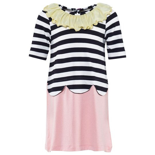 Wauw Capow Clever Clara Dress Black & white striped Color mix