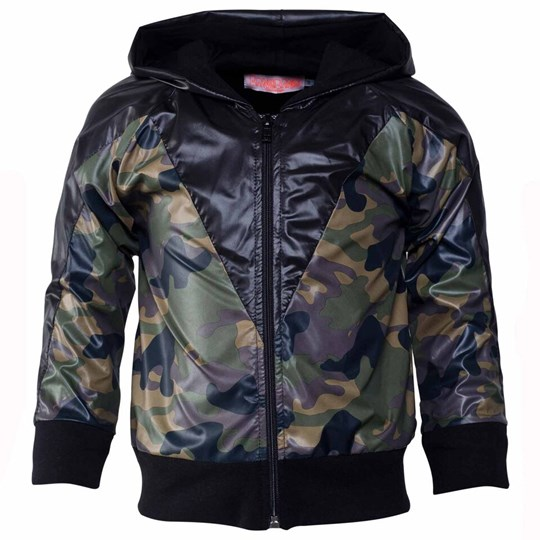 Wauw Capow Who´s Bad Jacket Black Black & army