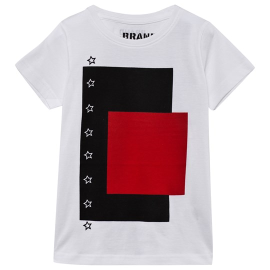 The BRAND Block Tee White White