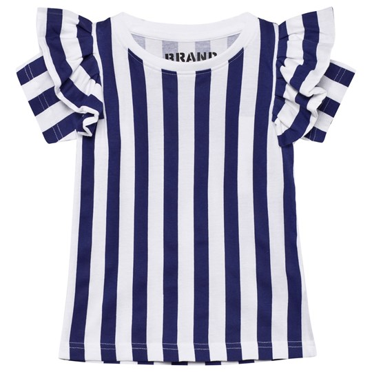 The BRAND Flounce Tee Blue/White Stripe Blue/white stripe