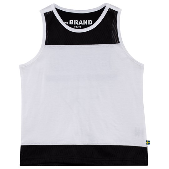 The BRAND Mesh Tank Black/White Black/White
