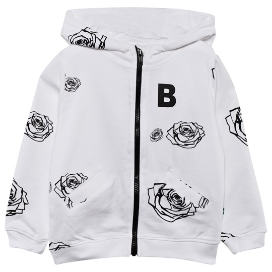 The BRAND Bear Hoodie White Roses White Roses