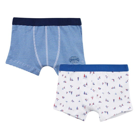 Petit Bateau 2-Pack Boxers Milleraies-Stripes / Printed  Special Lot 00