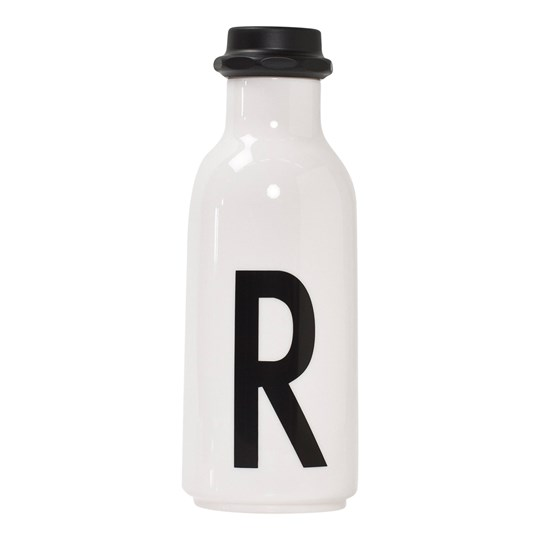 Design Letters Personal Water bottle R White with black letterprint
