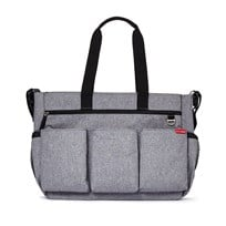 Skip Hop Duo Double Signature Diaper Bag Heather  Grey