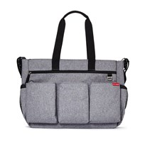 Skip Hop Duo Double Signature Diaper Bag Heather  серый