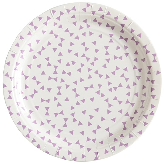 My Little Day 8 Paper Plates - Lilac Bows lilac bows