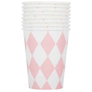 Image of My Little Day 8 Paper Cups - Light Pink Diamonds (2743696357)