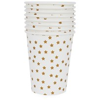 My Little Day 8 Paper Cups - Golden Stars golden stars