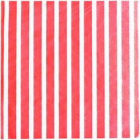My Little Day 20 Paper Napkins - Red Stripes red stripes