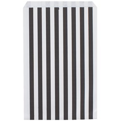 My Little Day 10 Paper Bags - Black Stripes